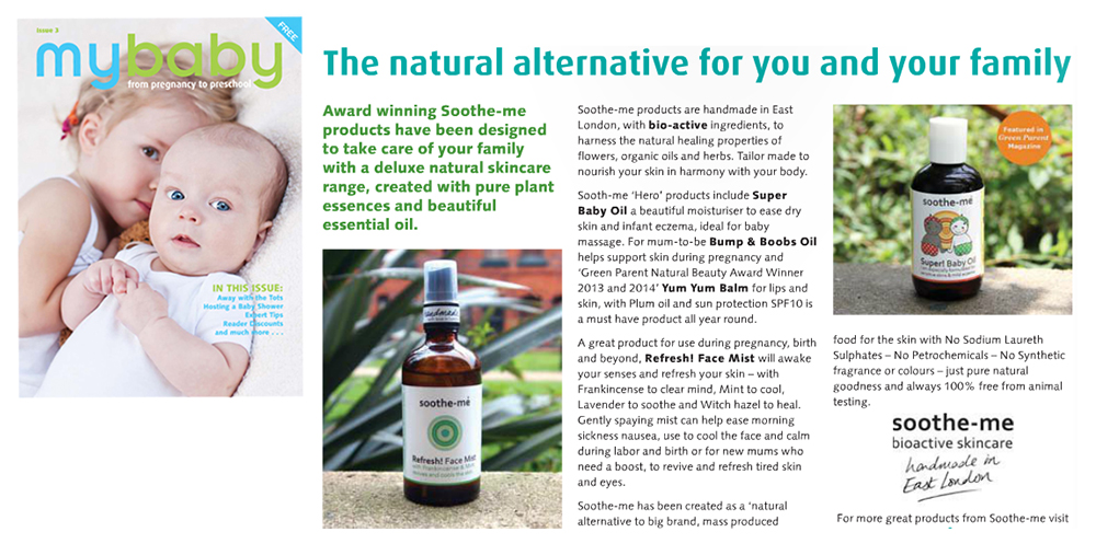 Soothe-me skincare - my Baby Magazine
